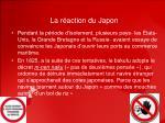 la r action du japon