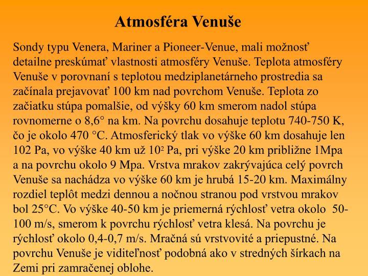 Atmosféra Venuše