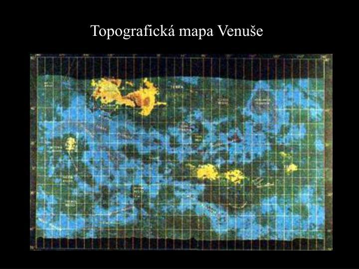 Topografická mapa Venuše