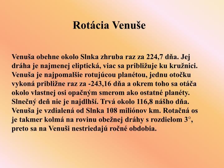 Rotácia Venuše