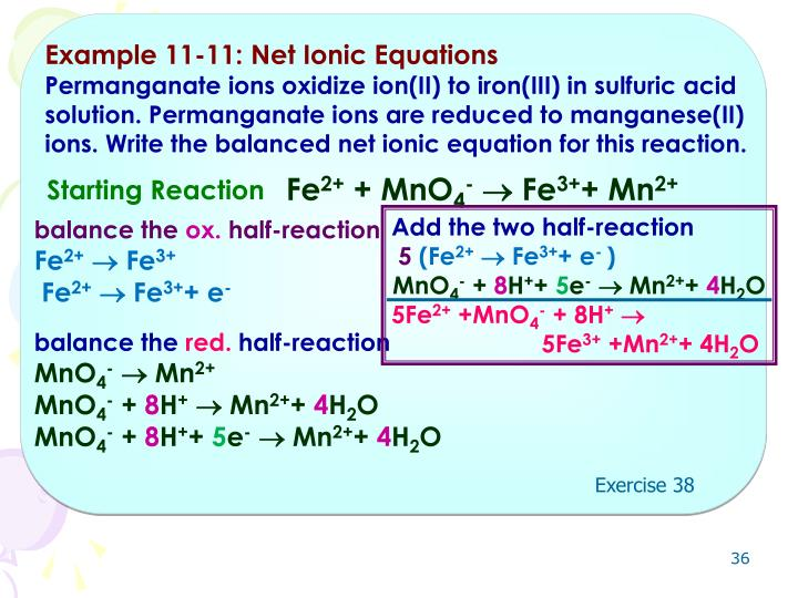 Example 11-11: Net Ionic Equations