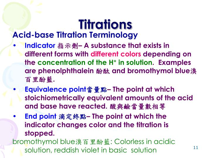 Titrations