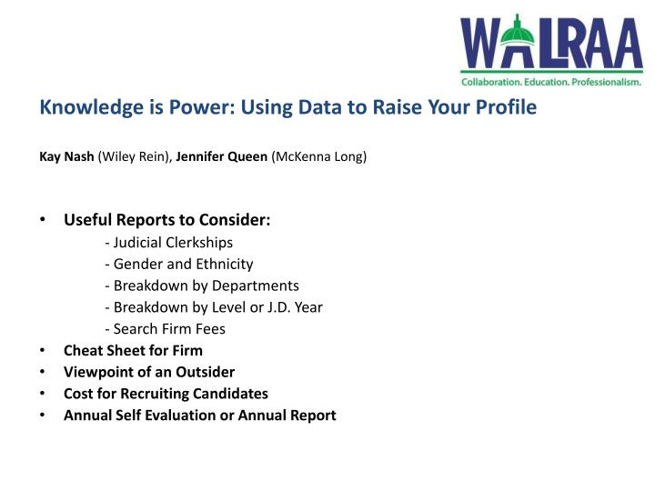 Knowledge is Power: Using Data to Raise Your Profile