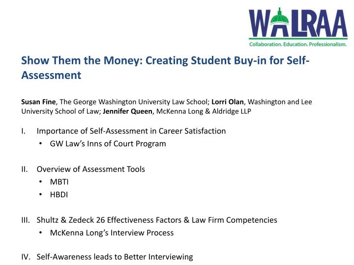 Show Them the Money: Creating Student Buy-in for Self-Assessment