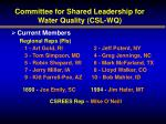 committee for shared leadership for water quality csl wq1
