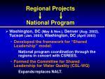 regional projects national program