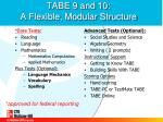 tabe 9 and 10 a flexible modular structure