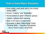 tests of adult basic education1