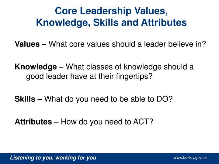 leadership philosophy paper values and attributes Read personal leadership philosophy: assumptions, values and beliefs free essay and over 88,000 other research documents personal leadership philosophy: assumptions, values and beliefs.