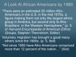a look at african americans by 1980