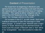 context of presentation