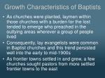 growth characteristics of baptists2