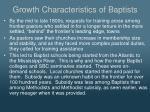 growth characteristics of baptists3