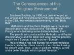 the consequences of this religious environment2