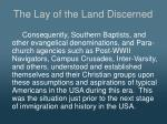 the lay of the land discerned1