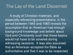 the lay of the land discerned2