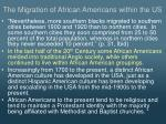 the migration of african americans within the us