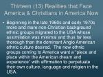 thirteen 13 realities that face america christians in america now