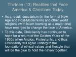 thirteen 13 realities that face america christians today4