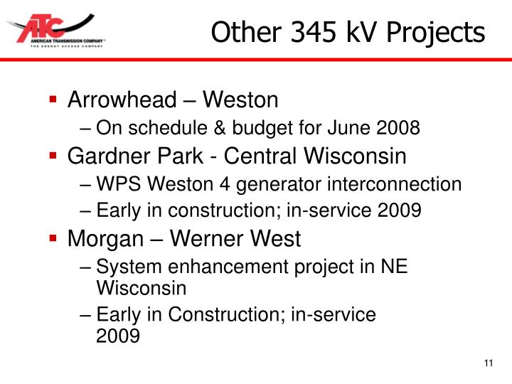 Other 345 kV Projects