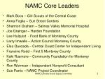 namc core leaders