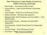new policies for a new reality conference namc planning committee