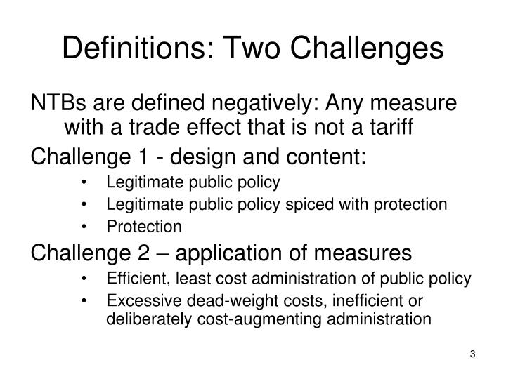 Definitions two challenges
