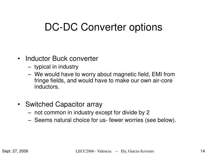 DC-DC Converter options