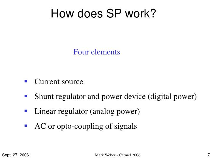 How does SP work?