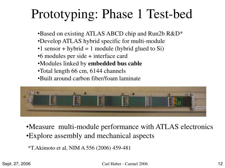Prototyping: Phase 1 Test-bed