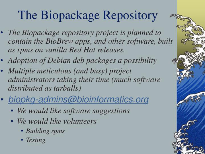 The Biopackage Repository