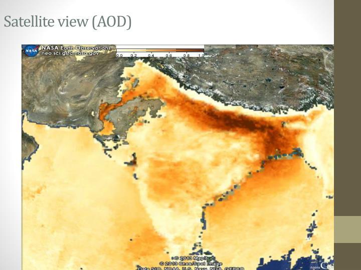 Satellite view (AOD)