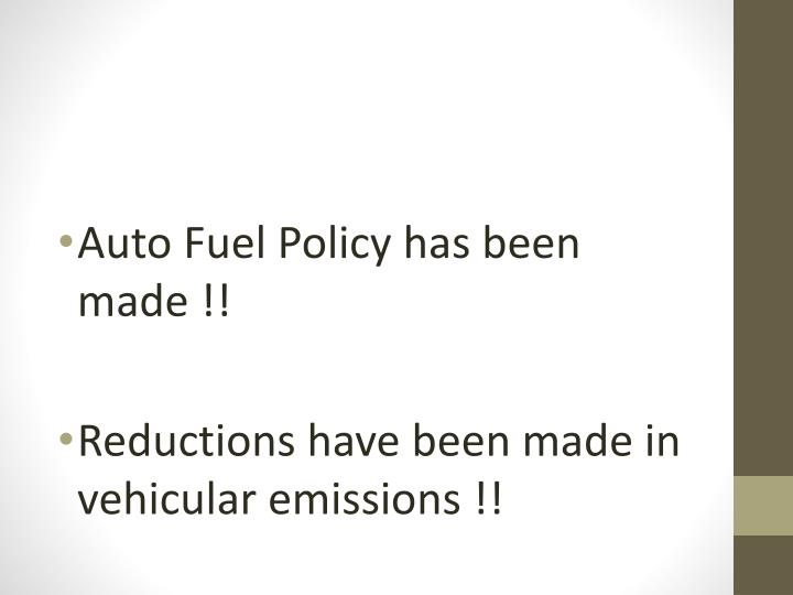 Auto Fuel Policy has been made !!