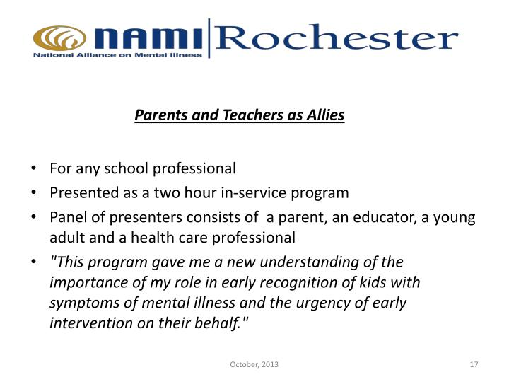 Parents and Teachers as Allies