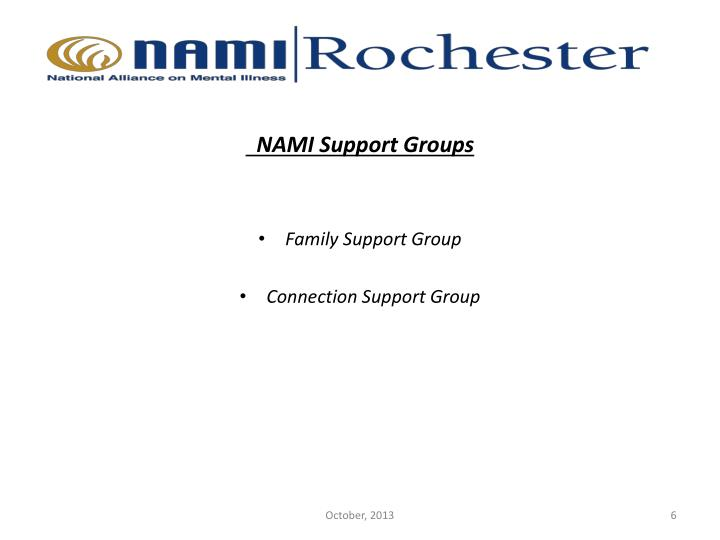 NAMI Support Groups