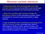 monsoon societal relevance
