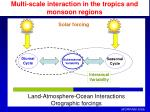 multi scale interaction in the tropics and monsoon regions