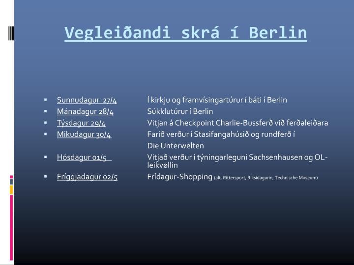 Vegleiðandi skrá í Berlin