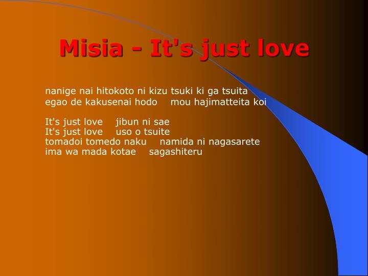 Misia - It's just love