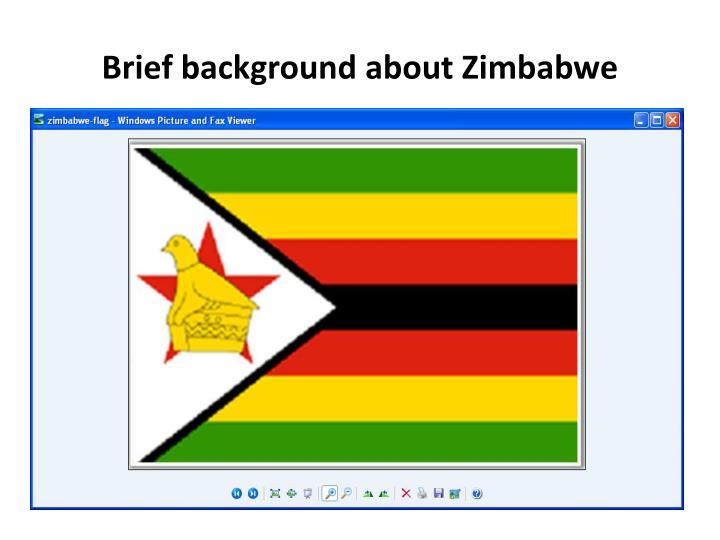 Brief background about zimbabwe