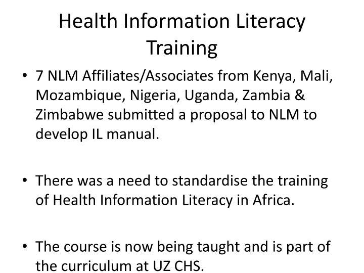 Health Information Literacy Training