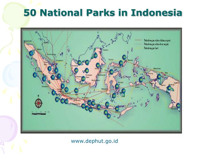 50 National Parks in Indonesia