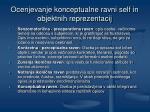 ocenjevanje konceptualne ravni self in objektnih reprezentacij