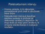 polstrukturirani intervju