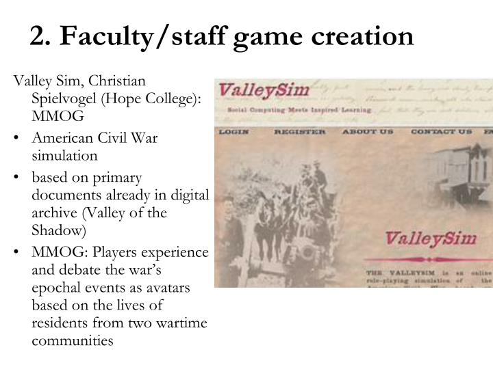 Valley Sim, Christian Spielvogel (Hope College): MMOG