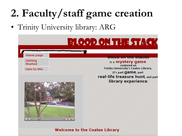 Trinity University library: ARG