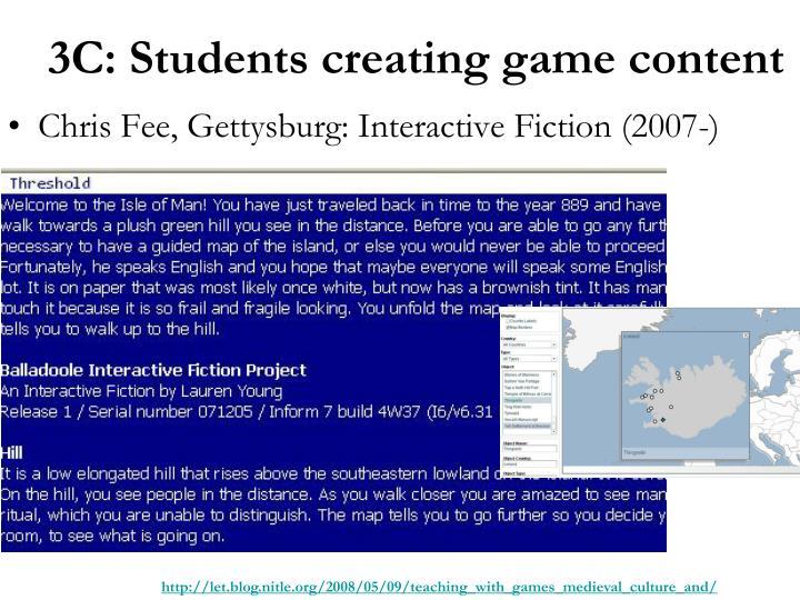 Chris Fee, Gettysburg: Interactive Fiction (2007-)