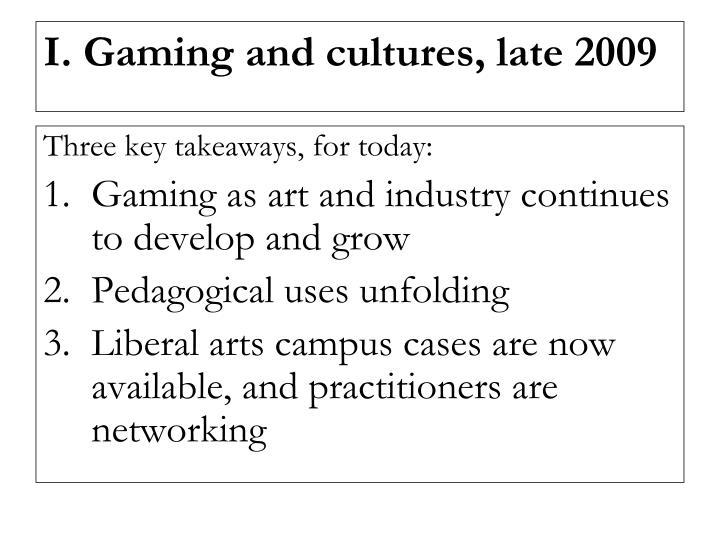 Three key takeaways, for today: