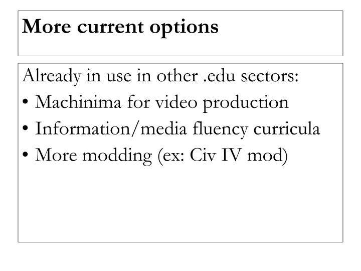 Already in use in other .edu sectors: