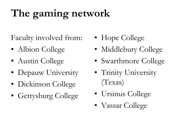 Faculty involved from: